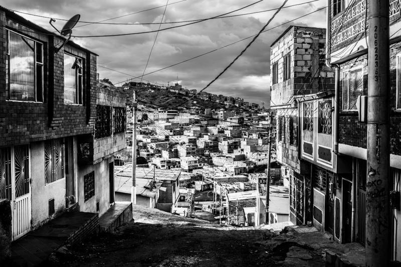 Ciudad Bolivar periferia di Bogotà